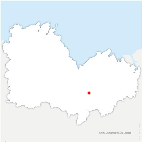 carte de localisation de Mené