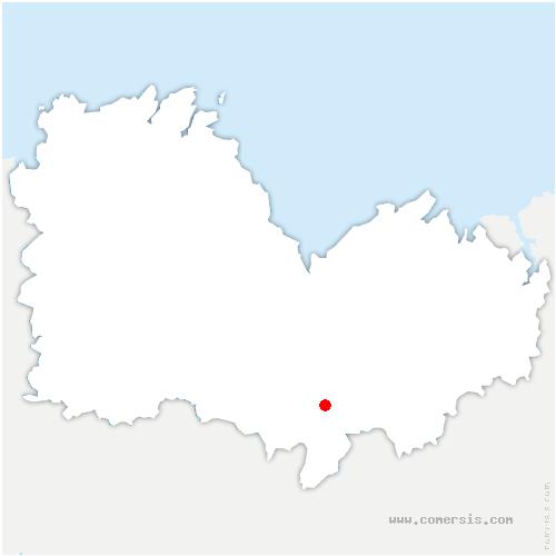 carte de localisation de Moulins