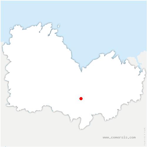 carte de localisation de Plouguenast-Langast