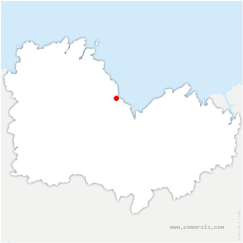 carte de localisation de Pordic