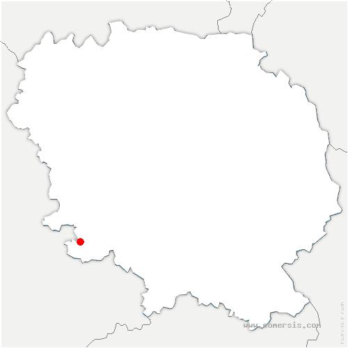 carte de localisation de Auriat