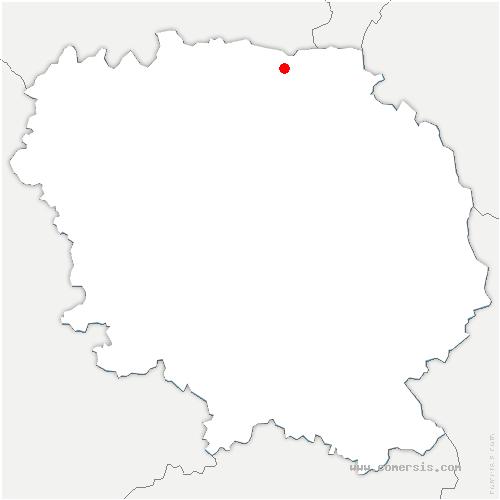 carte de localisation de Bétête