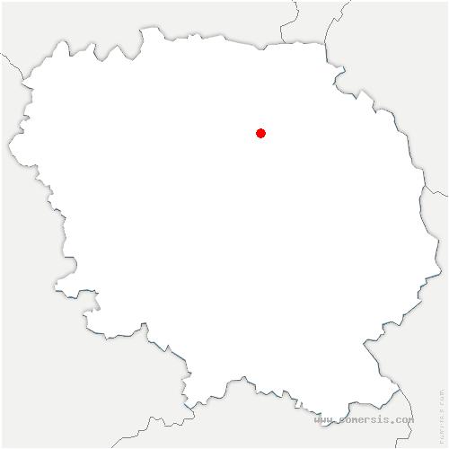 carte de localisation de Blaudeix