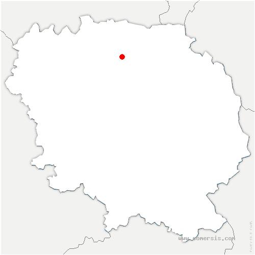 carte de localisation de Bonnat