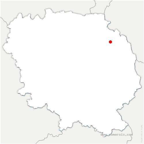 carte de localisation de Bord-Saint-Georges