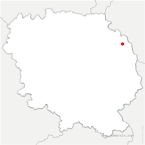 carte de localisation de Budelière