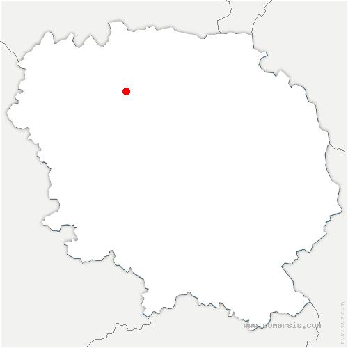 carte de localisation de Bussière-Dunoise