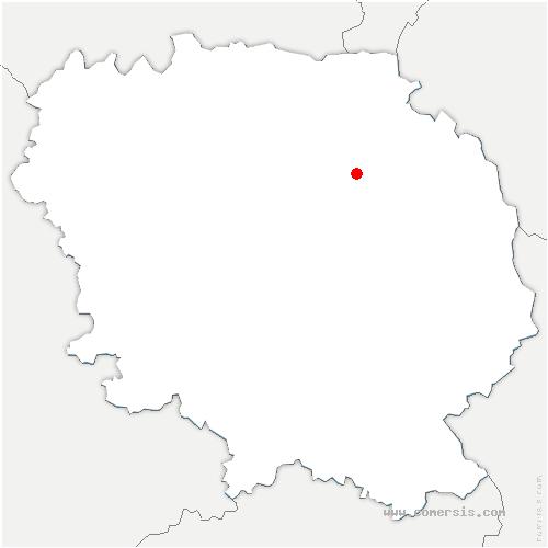 carte de localisation de Celle-sous-Gouzon