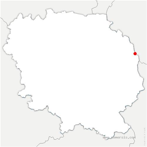 carte de localisation de Chambonchard