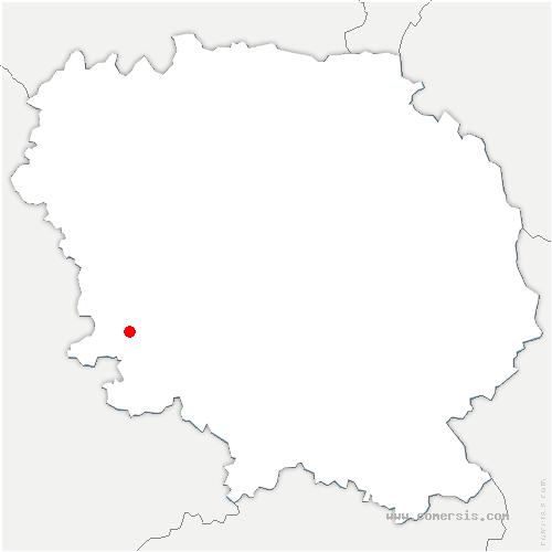 carte de localisation de Châtelus-le-Marcheix