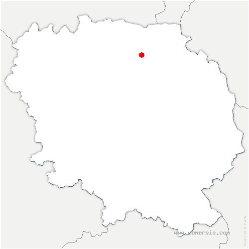 carte de localisation de Clugnat