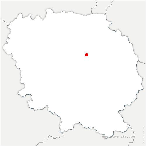 carte de localisation de Cressat