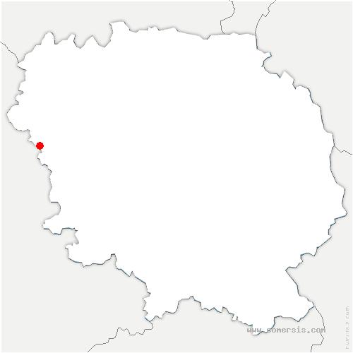carte de localisation de Fursac