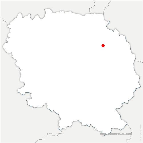 carte de localisation de Gouzon
