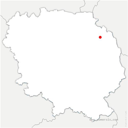 carte de localisation de Lépaud