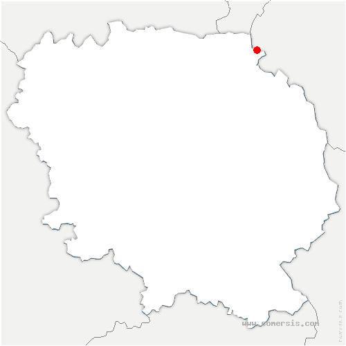 carte de localisation de Leyrat