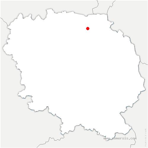 carte de localisation de Malleret-Boussac
