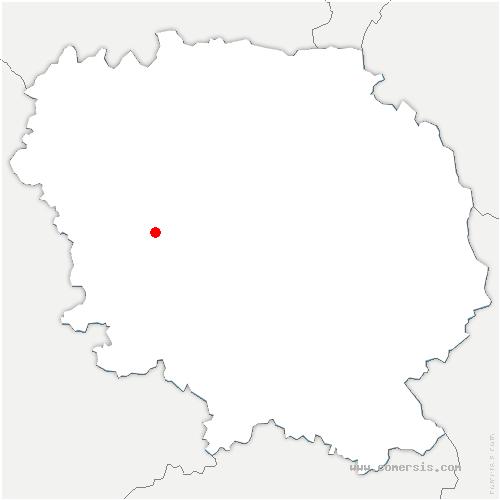 carte de localisation de Montaigut-le-Blanc