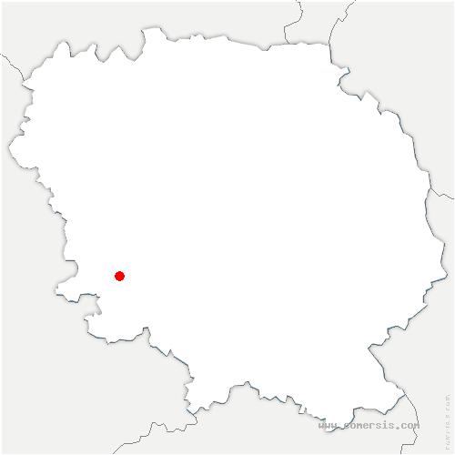 carte de localisation de Montboucher