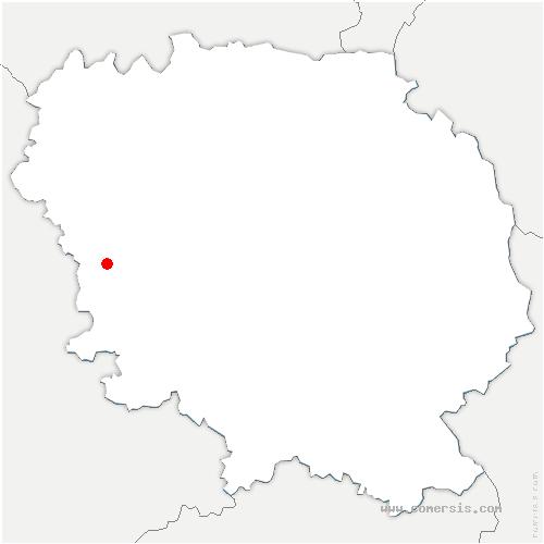 carte de localisation de Mourioux-Vieilleville