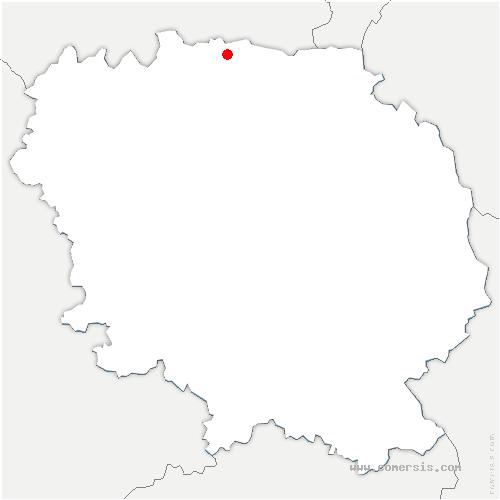 carte de localisation de Moutier-Malcard