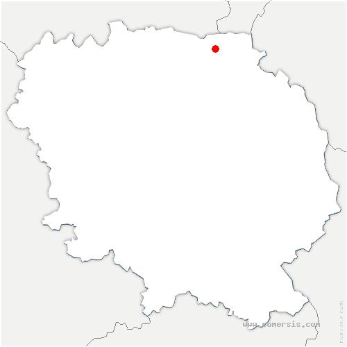 carte de localisation de Nouzerines