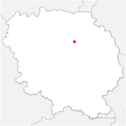 carte de localisation de Parsac-Rimondeix