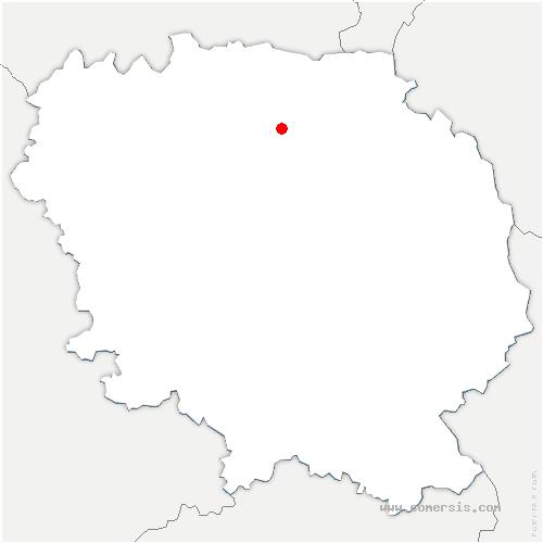 carte de localisation de Roches