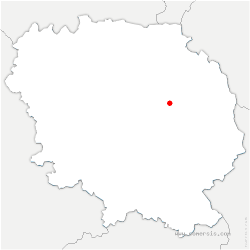 carte de localisation de Saint-Chabrais