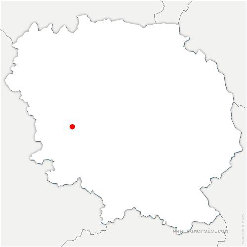 carte de localisation de Saint-Dizier-Masbaraud