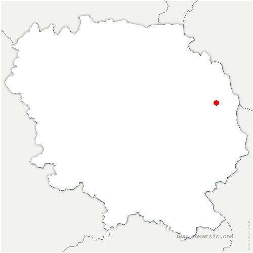 carte de localisation de Saint-Julien-la-Genête