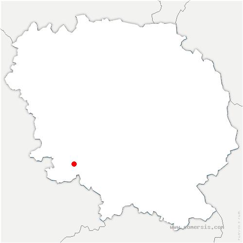 carte de localisation de Saint-Junien-la-Bregère