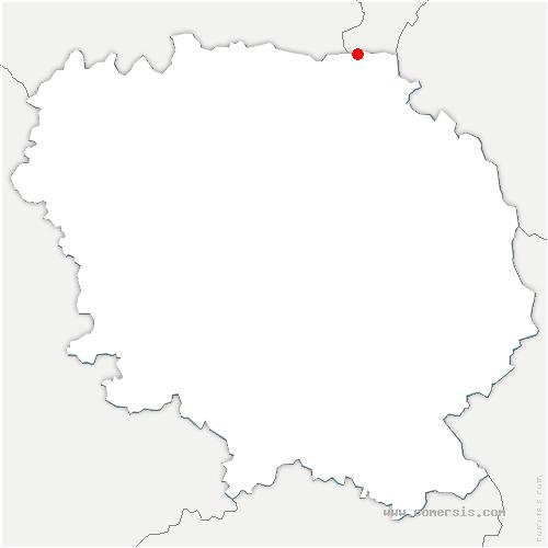carte de localisation de Saint-Marien