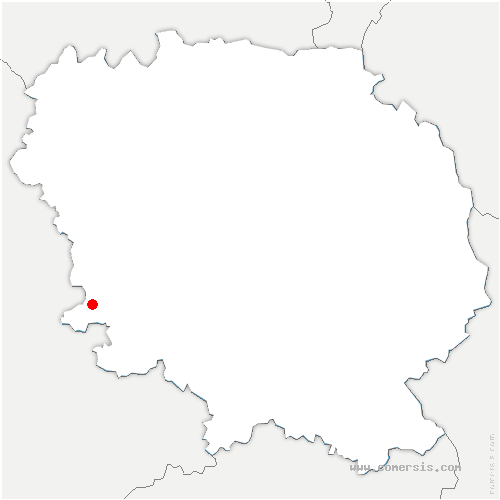 carte de localisation de Saint-Martin-Sainte-Catherine