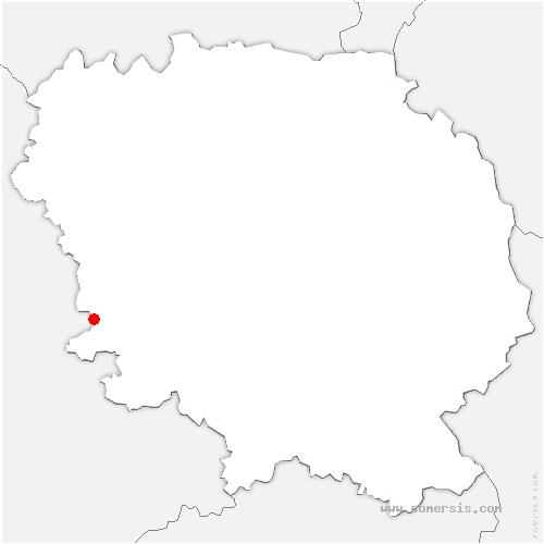 carte de localisation de Saint-Pierre-Chérignat