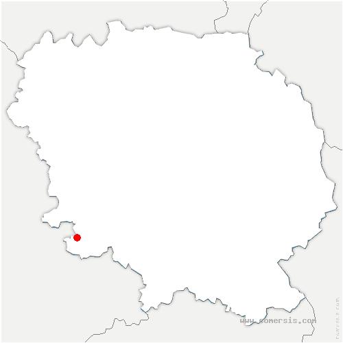 carte de localisation de Saint-Priest-Palus
