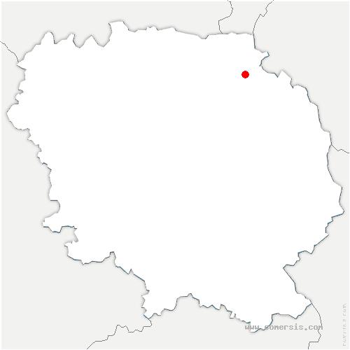 carte de localisation de Saint-Silvain-Bas-le-Roc