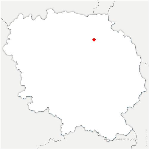 carte de localisation de Saint-Silvain-sous-Toulx