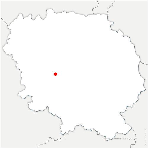 carte de localisation de Sardent