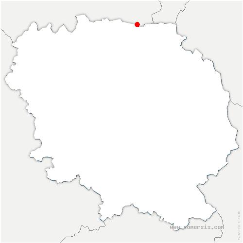 carte de localisation de Tercillat