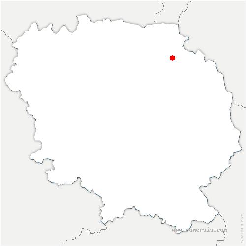 carte de localisation de Toulx-Sainte-Croix