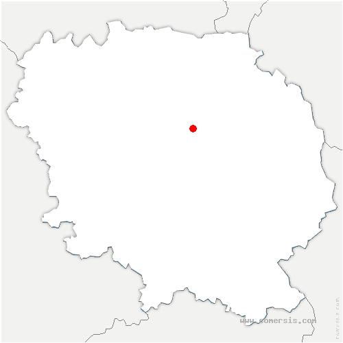 carte de localisation de Vigeville