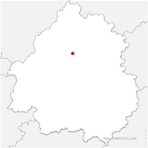 carte de localisation de Agonac