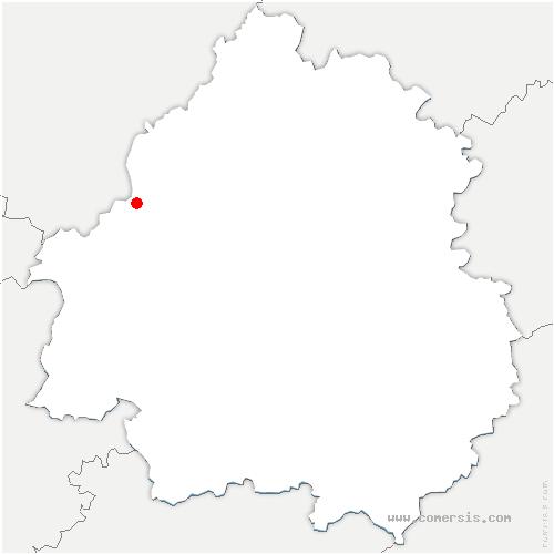 carte de localisation de Allemans