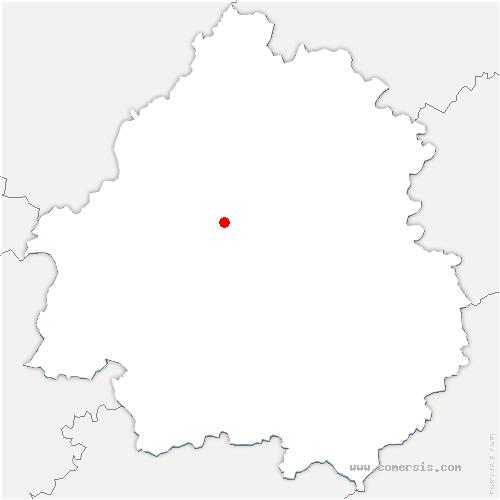 carte de localisation de Annesse-et-Beaulieu