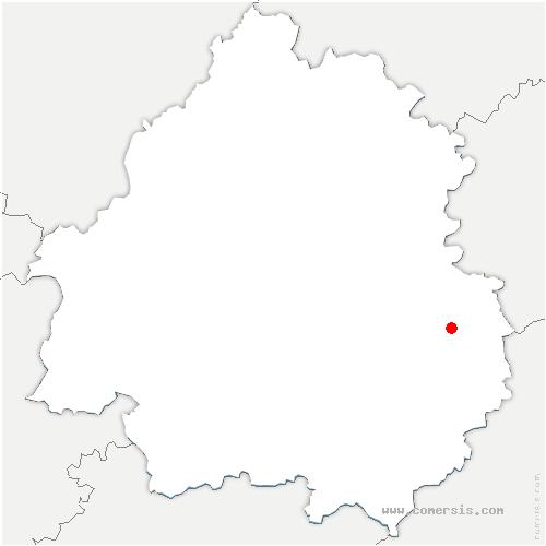 carte de localisation de Archignac