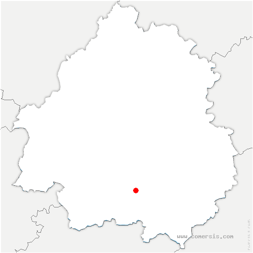 carte de localisation de Badefols-sur-Dordogne