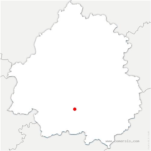 carte de localisation de Baneuil