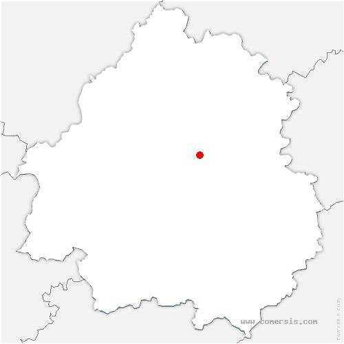 carte de localisation de Bassillac et Auberoche
