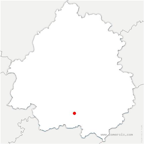 carte de localisation de Beaumontois-en-Périgord